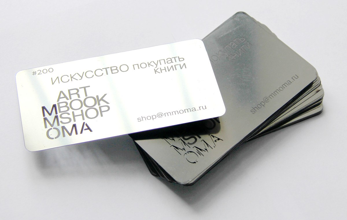 Business cards from stainless steel